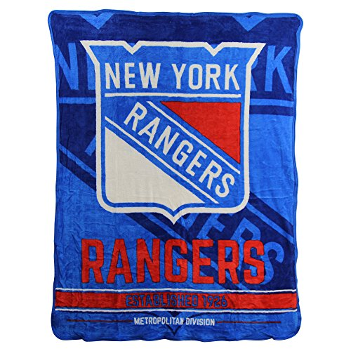 The Northwest Company NHL Breakaway Super Soft Plush Throw Blanket (New York Rangers)