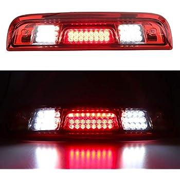 Red Lens 2014-2017 Chevy Silverado 1500 LED Tail Lights+LED 3rd Brake Cargo Lamp
