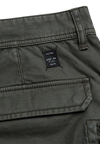 Replay - Pantalón - Básico - para mujer verde oliva