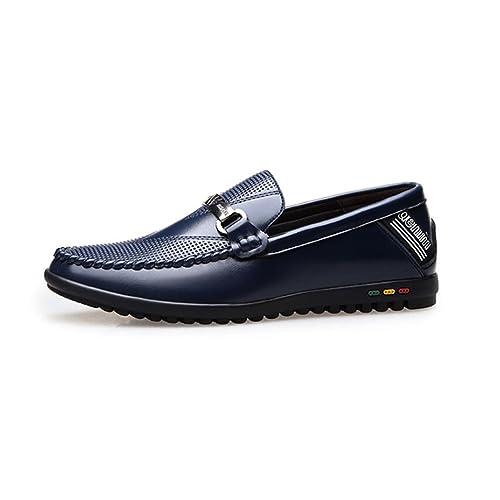 2018 Zapatos de Hombre, Trabajo Formal de Negocios Mocasines Zapatillas, Caucho Suave de Fondo