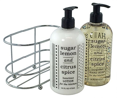 3 Pc Gift Set - Sugar Lemon and Citrus Spice Duo in Caddy