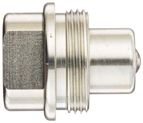Dixon Valve T2F2 Steel High Pressure Ball Interchange Fitting, Nipple, 1/4'' Coupling x 1/4'' - 18 NPTF Female Thread by Dixon Valve & Coupling (Image #2)