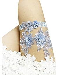 Eliffete Women's Sexy Lace Wedding Garters for Bride Flowers Bridal Garter Set