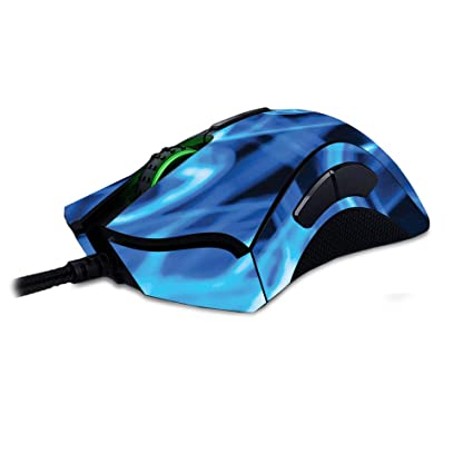 b3a486daebc MightySkins Skin for Razer Deathadder Elite - Blue Flames | Protective,  Durable, and Unique