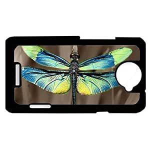 Dragonfly Blue HTC One X PLASTIC cell phone Case / Cover Great Gift Idea