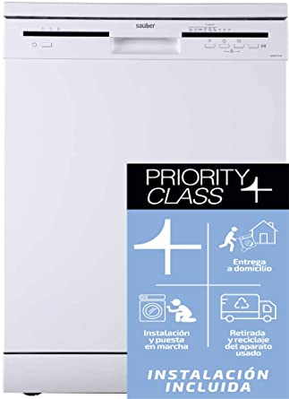 Sauber - Lavavajillas 60 cm SDW62PLUS A++ 12 cubiertos - Blanco ...