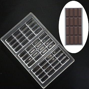 grainrain Chocolate moldes PC Candy molde molde de policarbonato postre hornear herramientas: Amazon.es: Hogar