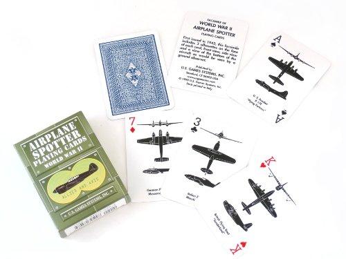 【Airplane Spotter Playing Cards】 飛行機シルエットのトランプ
