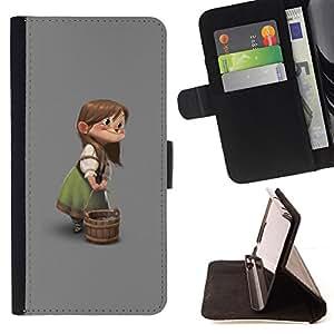 CHILDREN'S GIRL CARTOON KIDS CHARACTER/ Personalizada del estilo del dise???¡Ào de la PU Caso de encargo del cuero del tir????n del soporte d - Cao - For Samsung Galaxy Note 3 III
