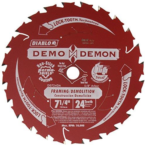 Freud D0724DA 7-1/4-Inch Diablo Demo Circular Saw Blade ()