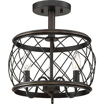 Quoizel Rdy1712pn Dury Cage Semi Flush Ceiling Lighting 3