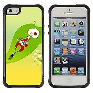 Be-Star único patrón Impacto Shock - Absorción y Anti-Arañazos Funda Carcasa Case Bumper Para Apple iPhone 5 / iPhone 5S ( Funny Santa Abstract )