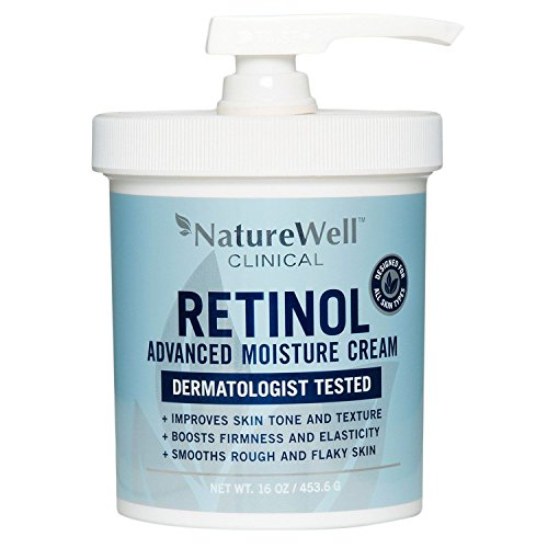 Retinol Nature Well Clinical Advanced Moisture Cream, Large, 16 oz Tub (2 pack)