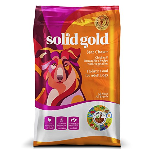 Solid Gold Dry Dog Food; Star Chaser with Real Chicken & Brown Rice, 28.5lb