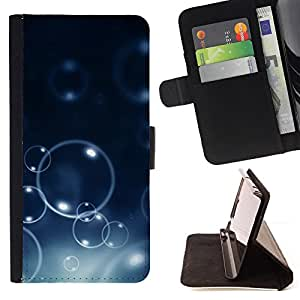 KingStore / Leather Etui en cuir / Samsung Galaxy S6 EDGE / Burbujas Bokeh