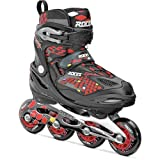 Roces Moody 4.0 Boys Adjustable Kids Inline Skates 2015 Y13-3 Black-Red-Yellow by Roces