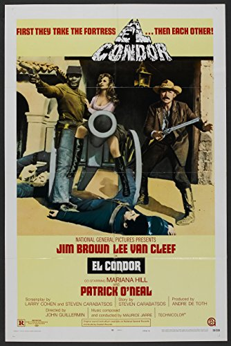 EL CONDOR original 1970 27x41 one sheet movie poster JIM BROWN/LEE VAN CLEEF/MARIANA HILL (Jim Movie Poster)