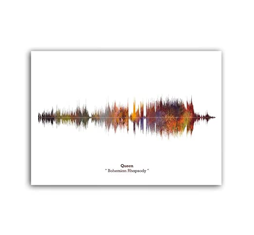 Lab No. 4 Queen Bohemian Rhapsody Song Soundwave Lyrics Music Print: Amazon.es: Hogar
