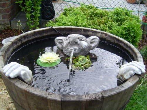 piedra figuras Gárgola Jardín Figura Decorativa para Jardín Koi estanques: Amazon.es: Jardín