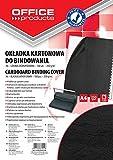 Okladki do bindowania Office Products A4 kartonowa 100 sztuk czarna/skóropodobna