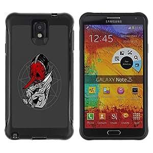 Suave TPU GEL Carcasa Funda Silicona Blando Estuche Caso de protección (para) Samsung Note 3 / CECELL Phone case / / Goth Satanist Abstract /