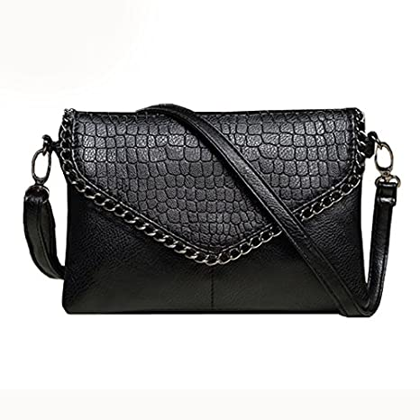 3ad3f346a00f Amazon.com   Messenger Bags - SODIAL(R)New Fashion Small Bag Women  Messenger Bags Soft PU Leather Crossbody Bag For Women Clutches Woman purses  Black small ...