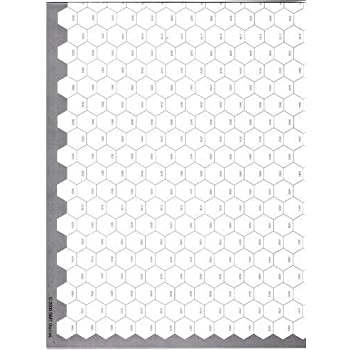 Amazoncom Gmt Hex Map 22x34 Map With 16mm Numbered Hexes With