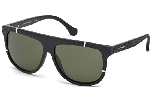 d9c474365e Sunglasses Balenciaga BA 25 BA0025 02N matte black   green at Amazon ...