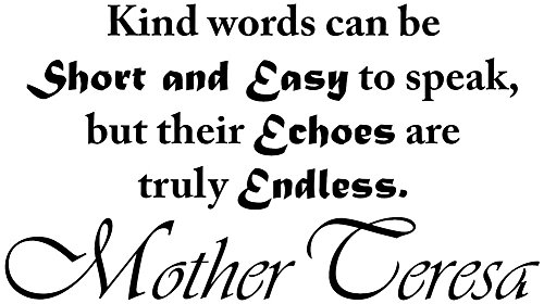 [Mother Teresa Quotes Wall Art Decals are a great way to Decorate your quite time area & Pray the Rosary with Mother Teresa. Displaying Kind words can be Short and Easy to speak... -] (Missionary Costumes)