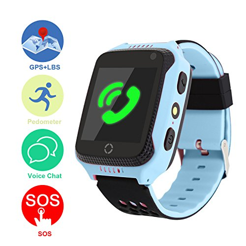 Kid Smart Watch, Mictchz Kids GPS Tracker Smart Watch SIM Calls SOS Anti-lost GPS + LBS Smart Watch for Children Boys Girls for Android iPhone Smart Watch