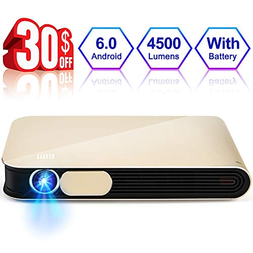 WOWOTO CAN Pro Projector 3D DLP 4500 Lumens...