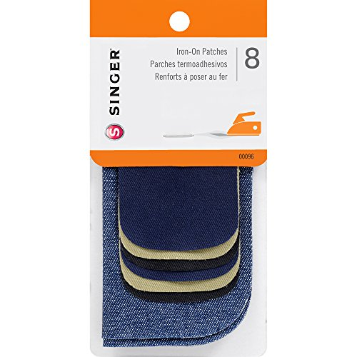 Singer 00096 Iron-On Patches Combo, Repair Kit for Jeans and Pants, ()