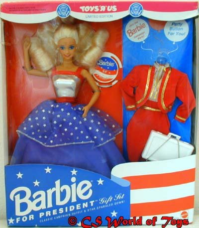 Barbie For President Gift Set – Toys R Us Limited Edition Doll – 1991 Mattel, Baby & Kids Zone