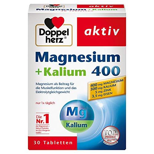 더블 하트 액티브 마그네슘 + 칼륨 400, 30 St