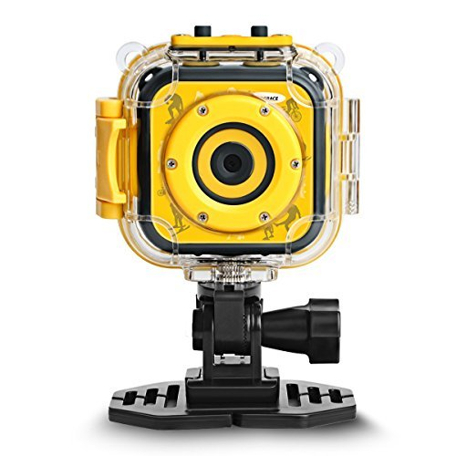 DROGRACE Children Kids Camera Waterproof Digital Video HD
