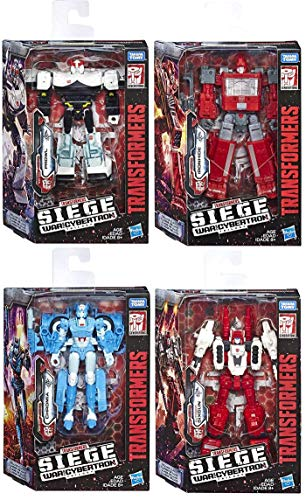 Transformers Hasbro War for Cybertron: Ironhide, Chromia, Prowl, Sixgun Deluxe Action Figure ()