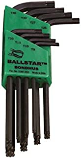 product image for Bondhus 11332 Set of 8 BallStar L-wrenches, sizes T9-T40