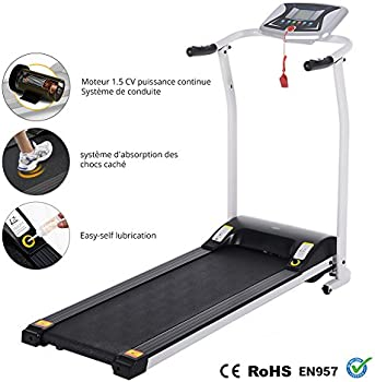 Details about  /Folding Treadmill Electric Running Machine Auto Stop Safe Function LCD l 04