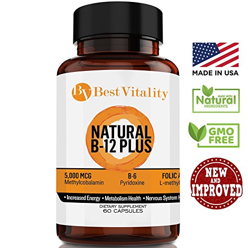 Ultimate Vitamin B Complex Dietary Supplement – Healthy & Natural Vit B Source, Including B12, B6 & Folic Acid, Boosts Energy Levels & Metabolism – 60 Vegetarian & Fast-Absorbing Capsules