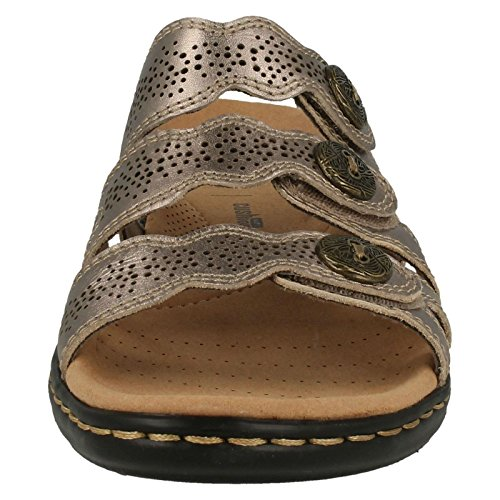 Clarks Pewter sulla Aperte Metallic Caviglia Donna UST1wqHRU