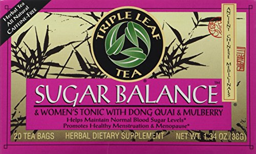 (Triple Leaf Teas - Sugar Balance & Women's Tonic Tea, 20 bag)