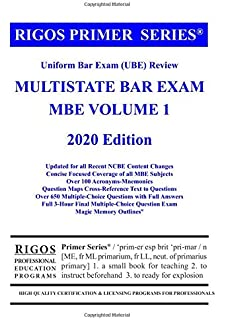 Rigos Primer Series Uniform Bar Exam (UBE) Multistate Bar ...