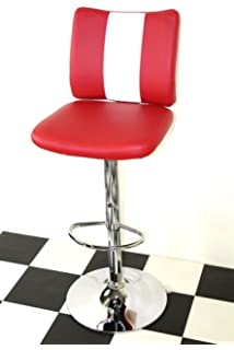 American Diner Furniture s Style Retro Bar stools Chairs Red