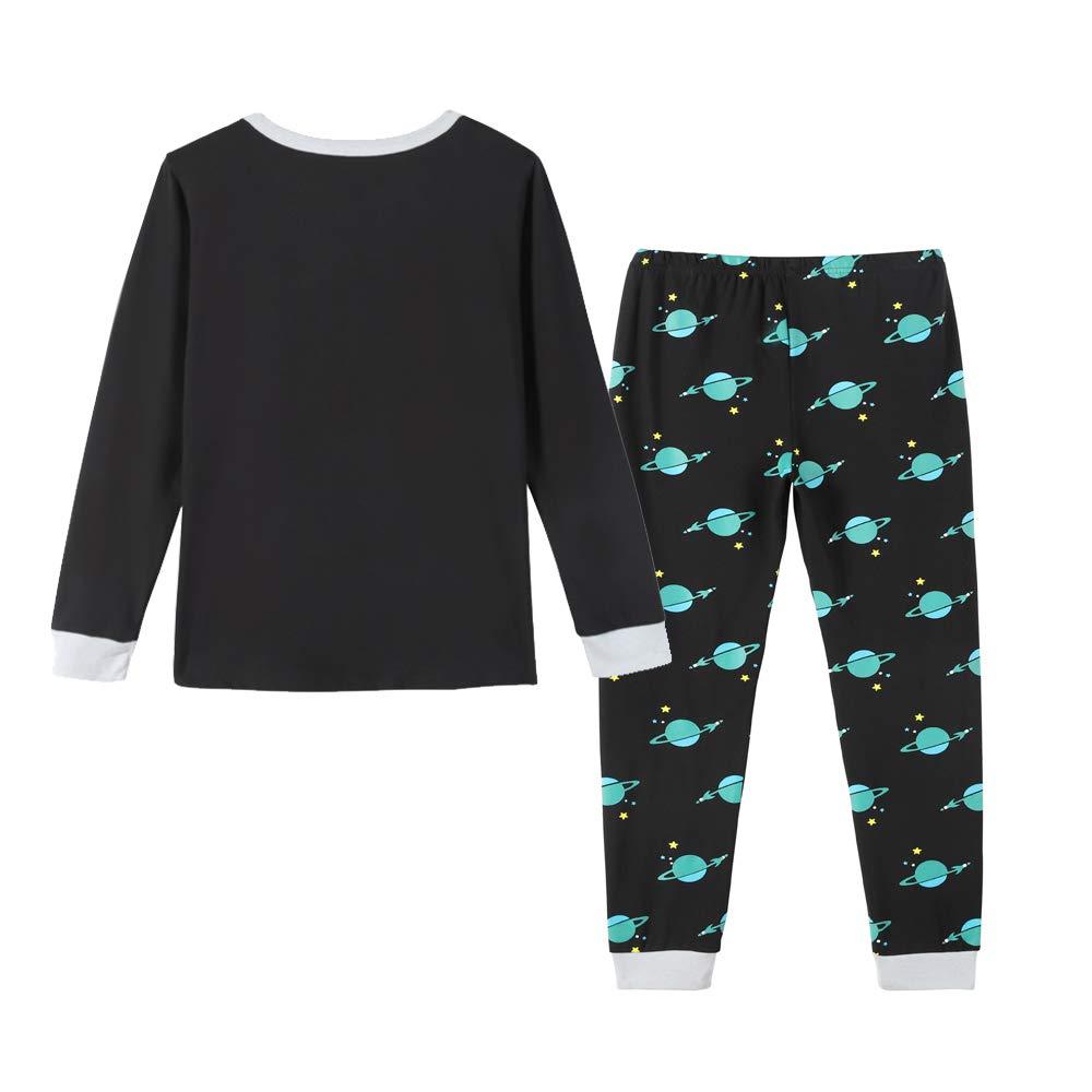 MyFav Big Boys Pajamas Sets 100/% Cotton Kids Universe Star Sleepwears Clothes