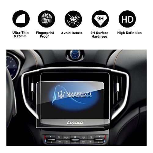 RUIYA Maserati Quattroporte Ghibli Levante Specialized Size for 8.4-Inches Car Navigation Protective Film,Clear Tempered Glass HD and Protect your Eyes