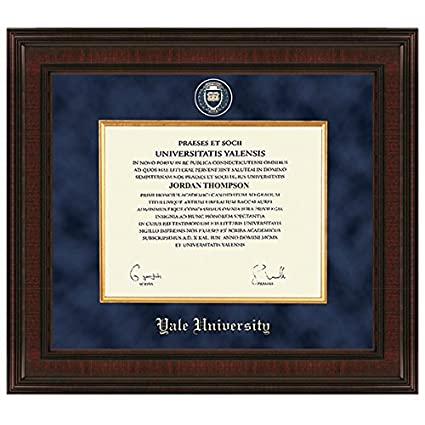 Amazon.com : Yale Excelsior Diploma Frame : Sports & Outdoors