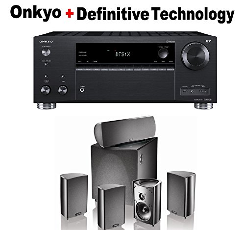 Onkyo Rz Series Audio & Video Component Receiver Black (TX-RZ620) + Klipsch HDT-600 Home Theater System Bundle