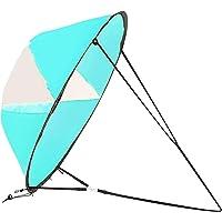 DASNTERED Kajak vindsegel, hopfällbara vindsegeltillbehör, bärbara kajak paddel bräda tillbehör för uppblåsbara båtar…
