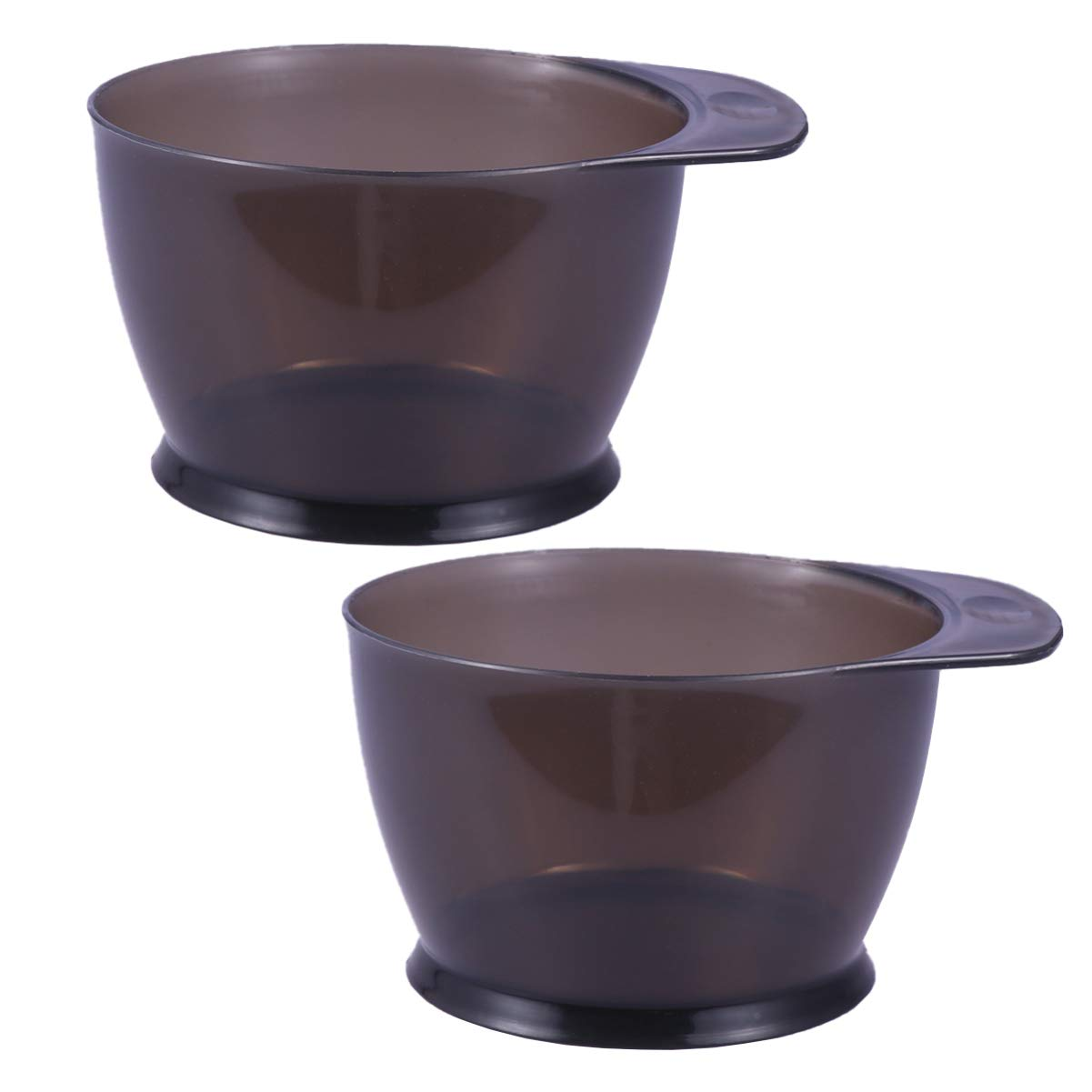 Lurrose 2Pcs Hair Color Bowl Plastic Color Mixing Tint Bowls Dyeing Coloring DIY Oil Treatments Tools for Salon Hairdressing