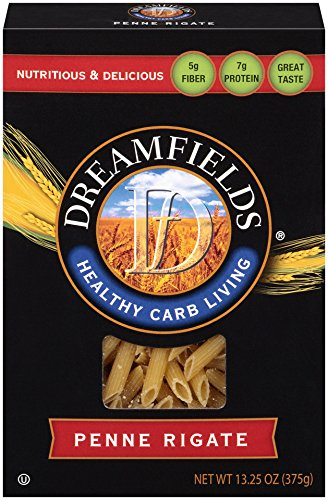 Dreamfields Pasta Healthy Carb Living, Penne Rigate, 13.25-Ounce Boxes (Pack of 12)